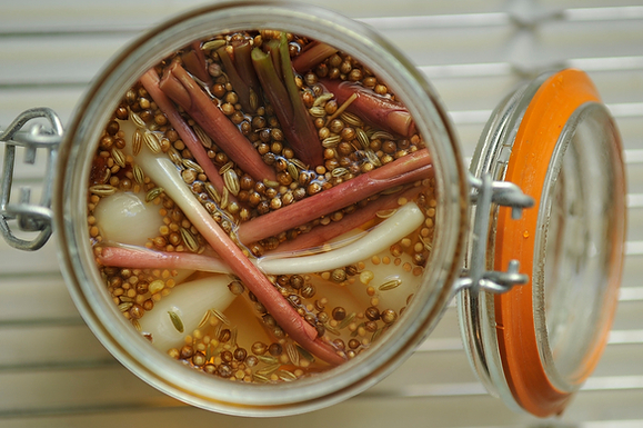 Sweet & Spicy Pickled Ramps