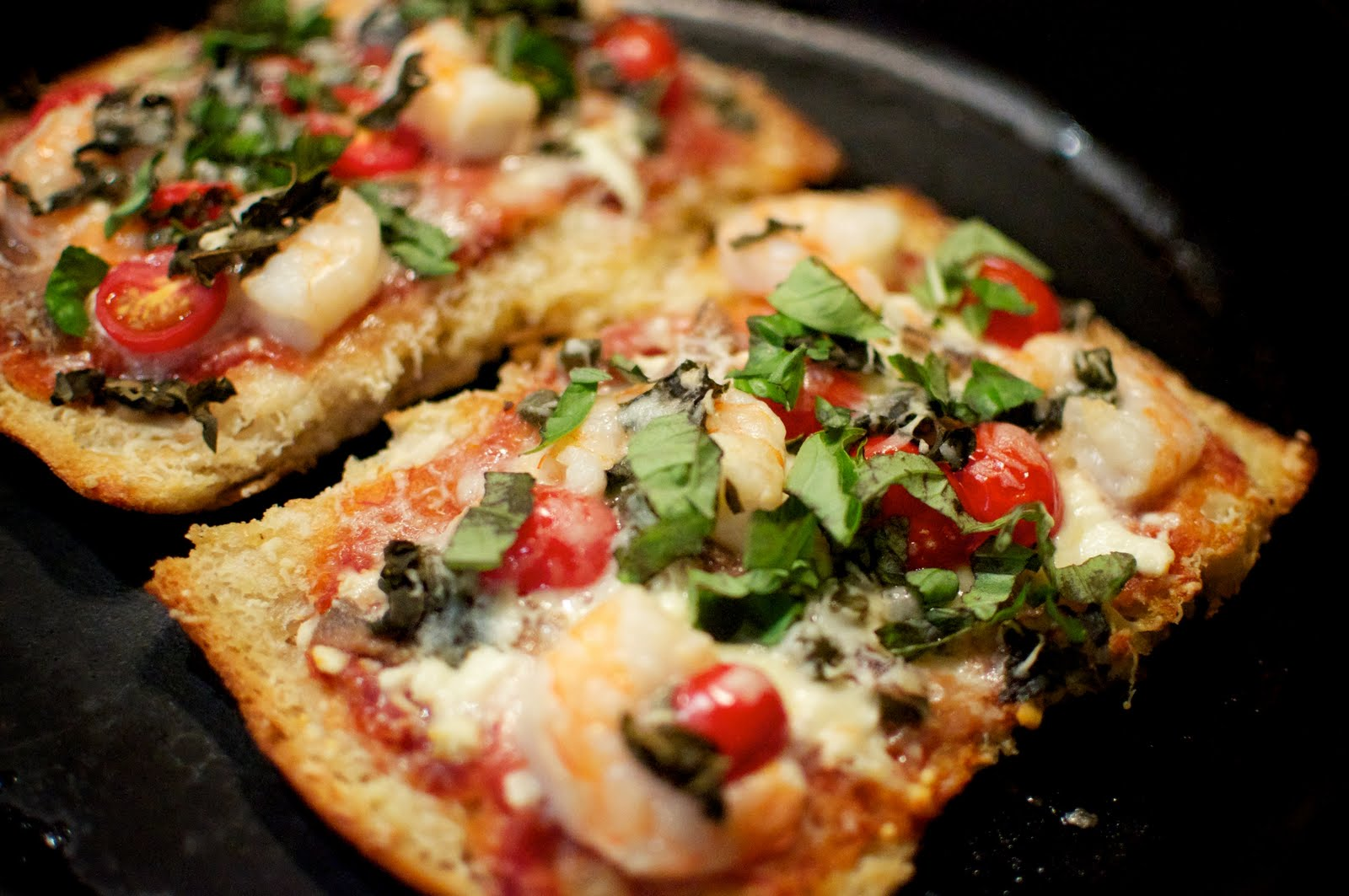 Lazy Greek Pizza with Shrimp