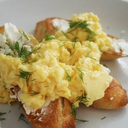 Eggs-on-crostini