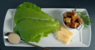 Smokey Caesar Salad with Rosemary