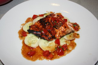 Hoisin BBQ Salmon with Asian Vinaigrette