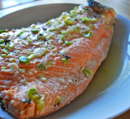 Foil Roasted Salmon with an Aromatic Jus