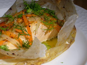 Salmon en Papillote
