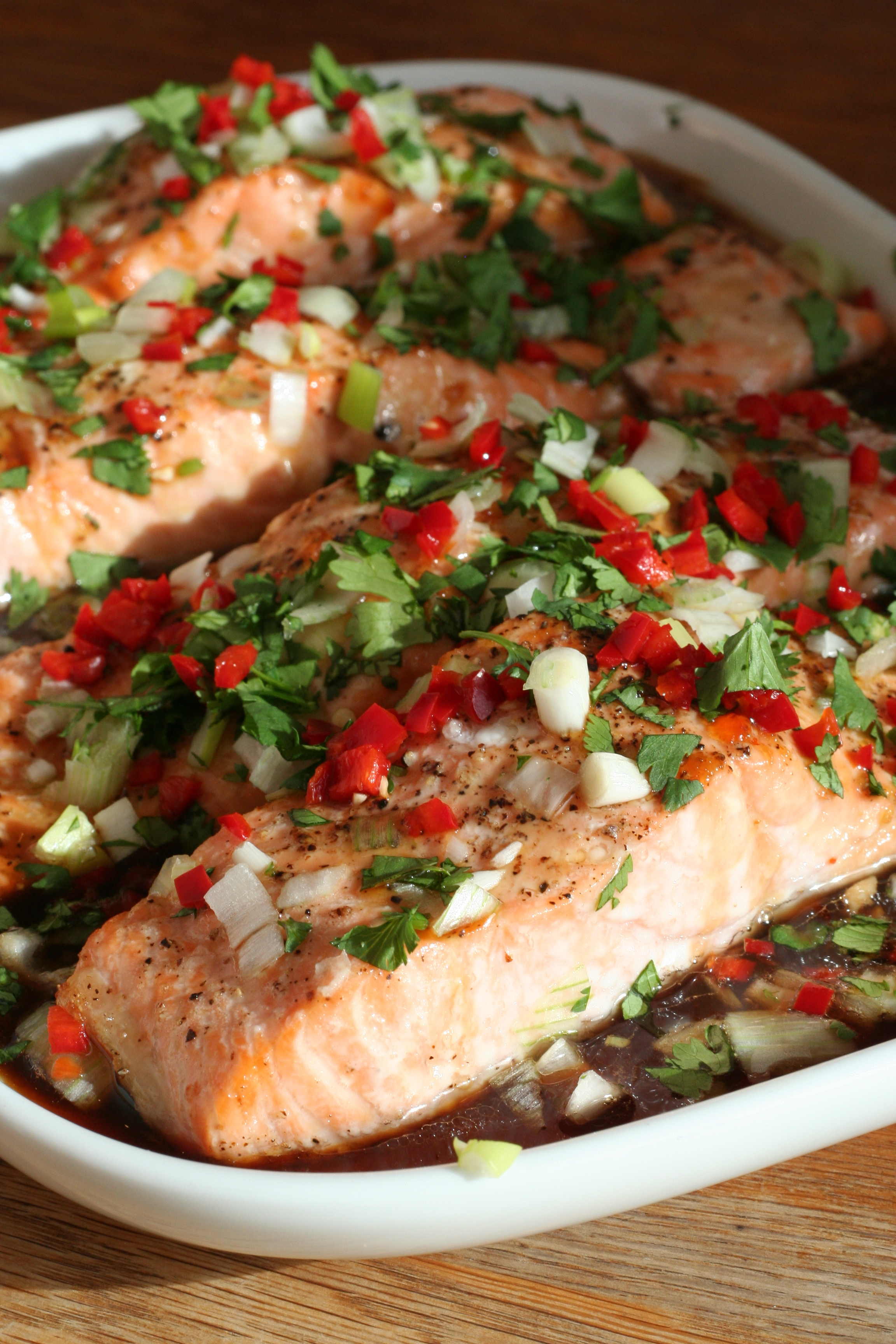 Roasted Salmon with a Cheat's Vietnamese Caramel Sauce