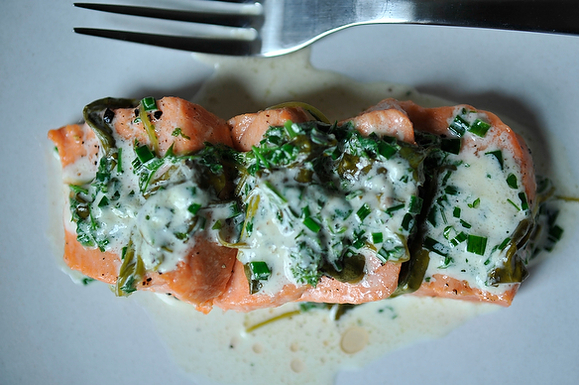 Salmon in Sorrel Sauce from Food52