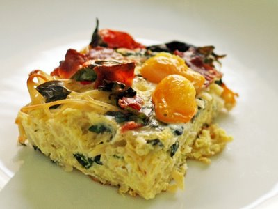 Heirloom Tomato & Spaghetti Strata