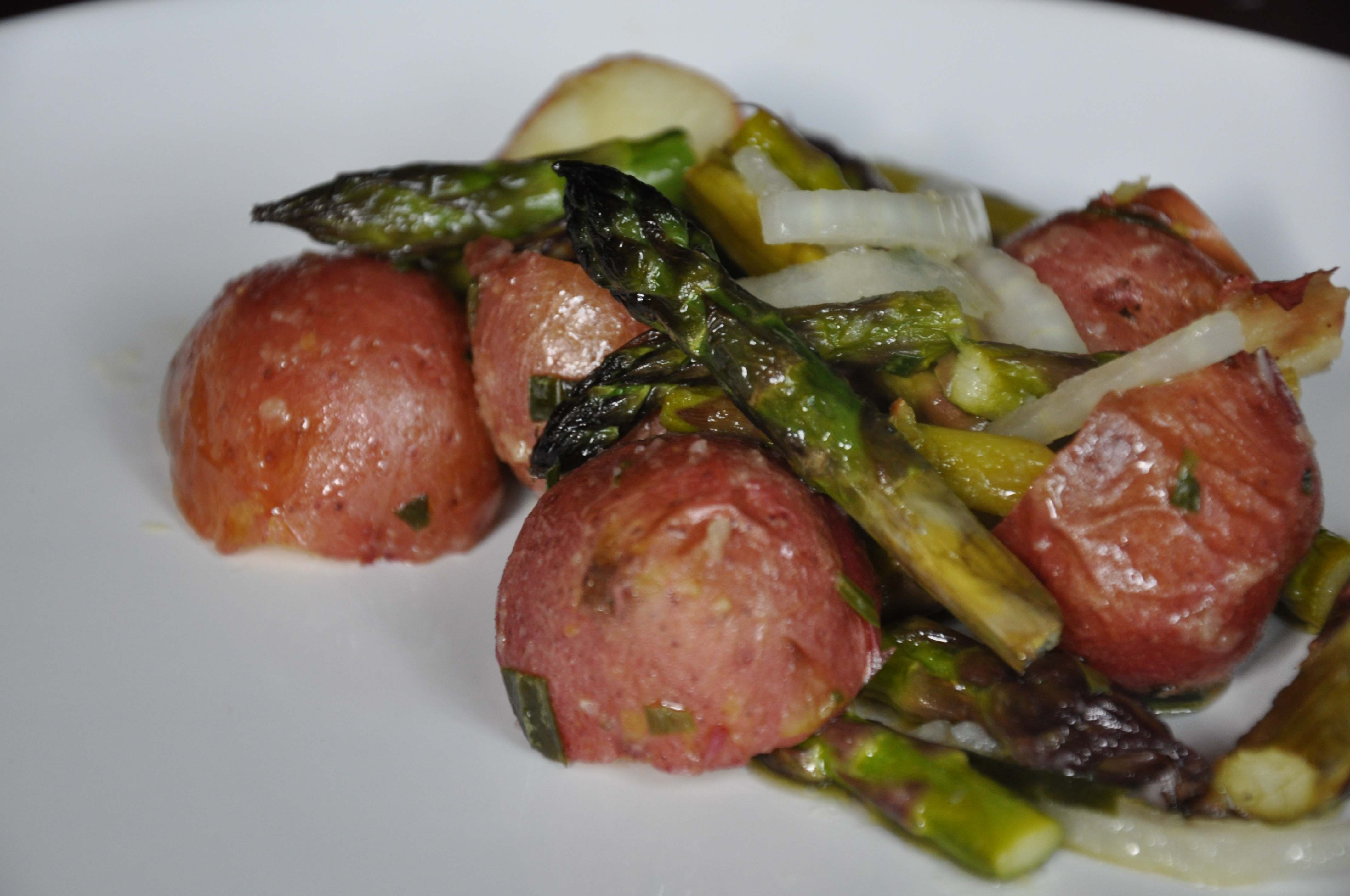 Roasted Potato and Asparagus and Tarragon