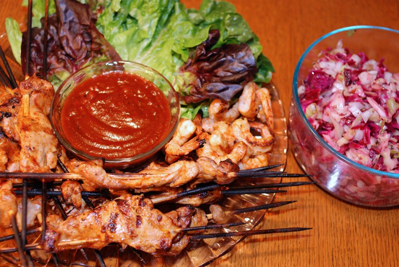 Yucatan Chicken and Shrimp Skewers