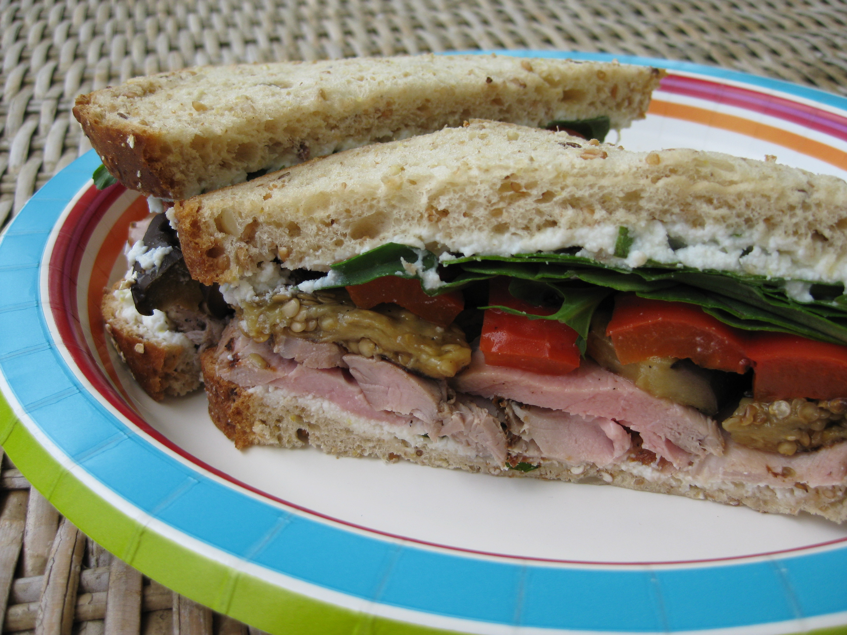 Grilled Pork And Veggies Sammich