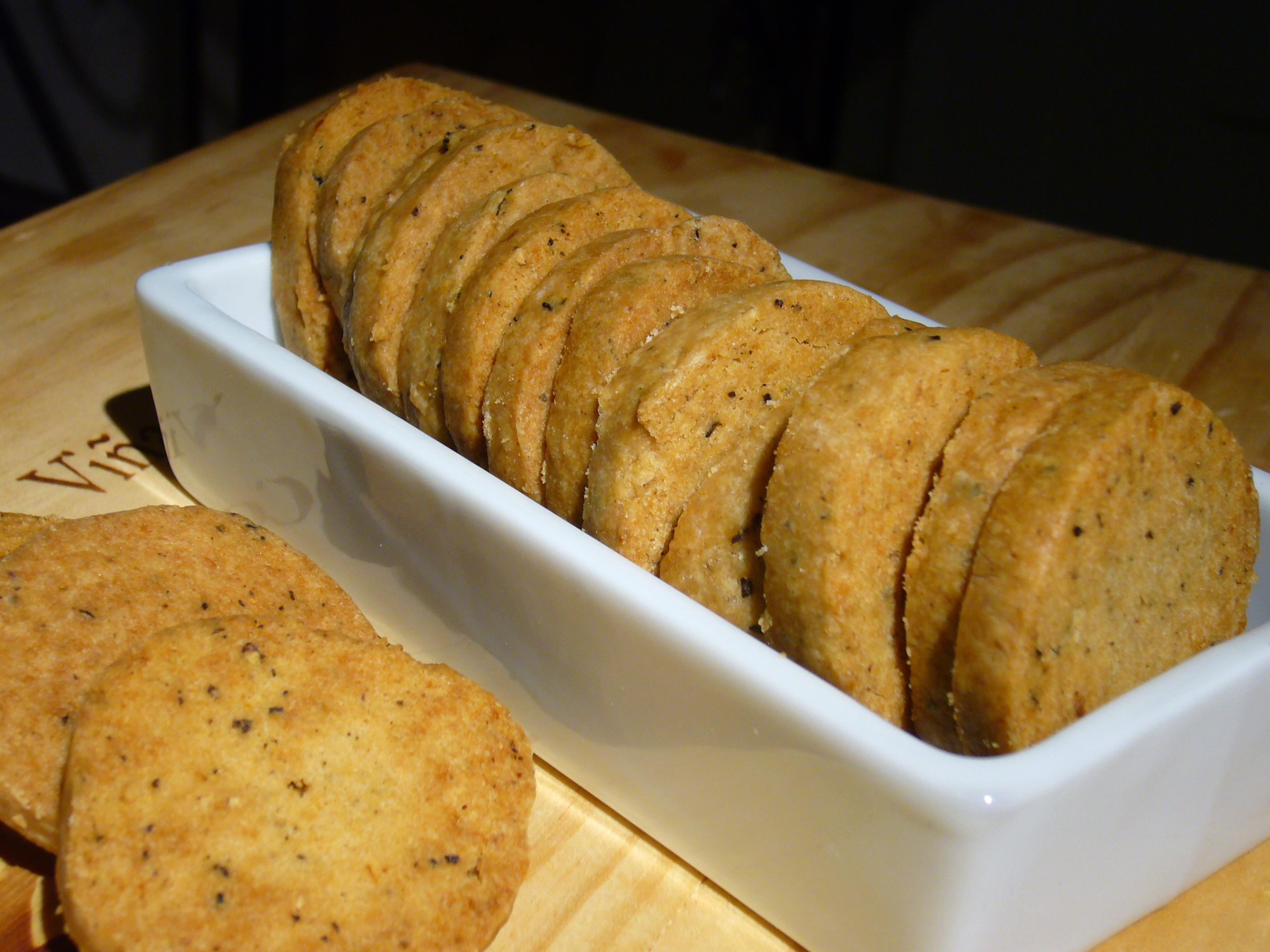 Lemon Pepper Shortbread Crackers