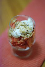 Strawberry Parfaits with Almond Crumble