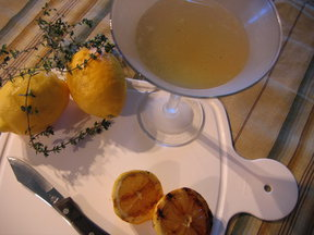 "Thyme for a ""Grilled"" Lemon Martini"
