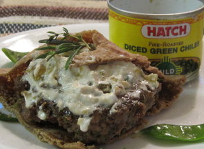 Hot-as-you-want-them lamb burgers with basil-lemon goat cheese