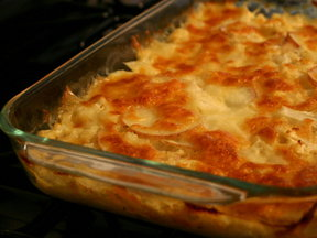 Cauliflower and Potatoes Au Gratin