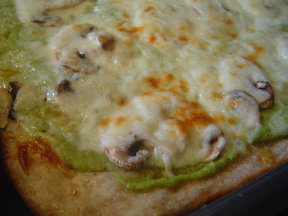 Two-Cheese Broccoli Pesto Flatbread