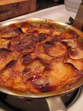 Bay-scented potato gratin