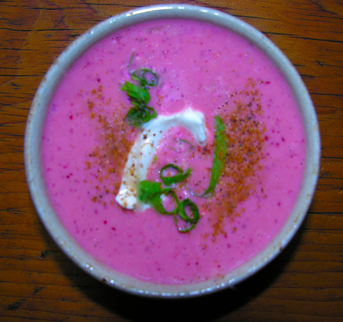 Chilled cherry summer soup