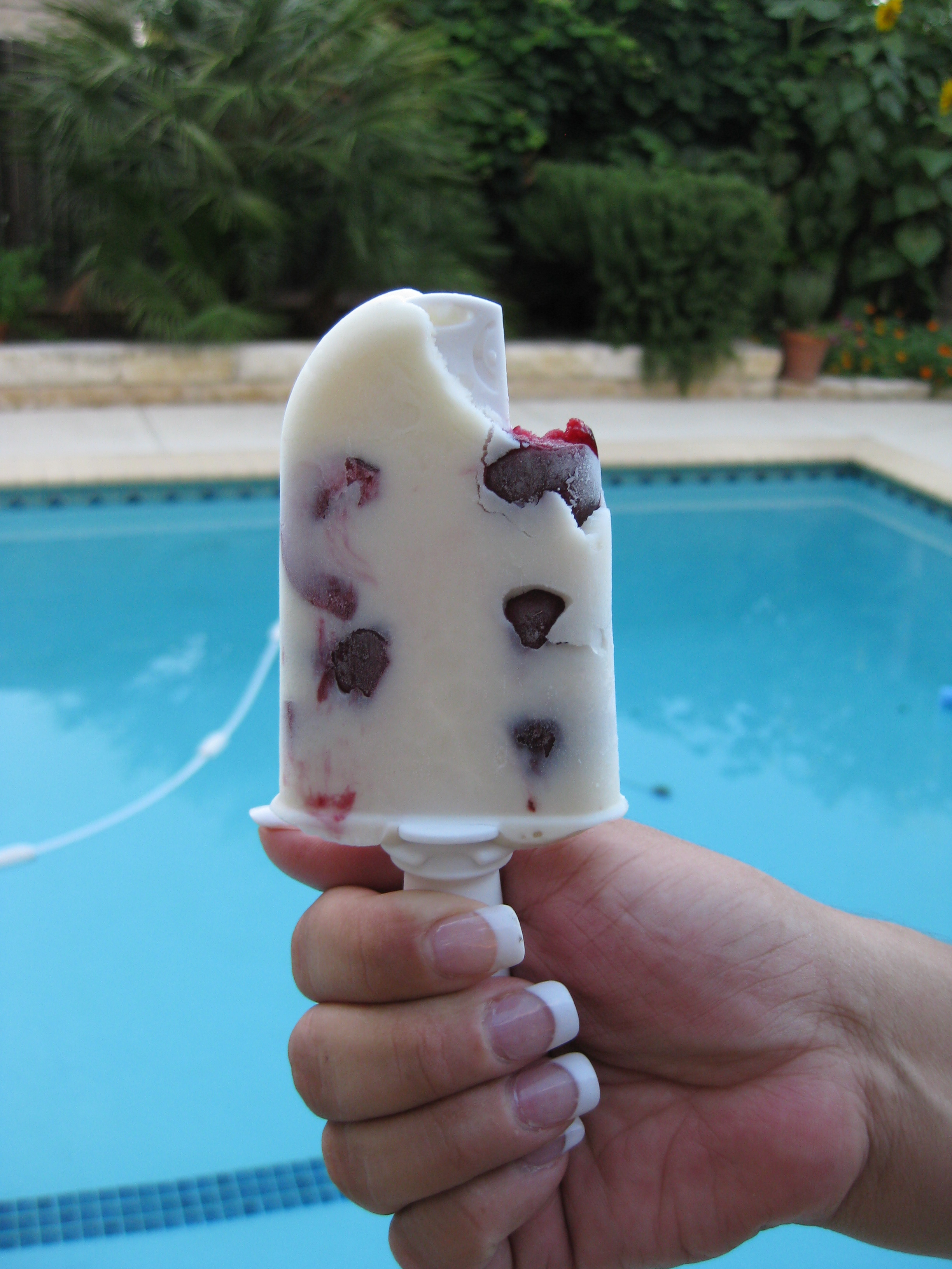 Cherry Milksicles