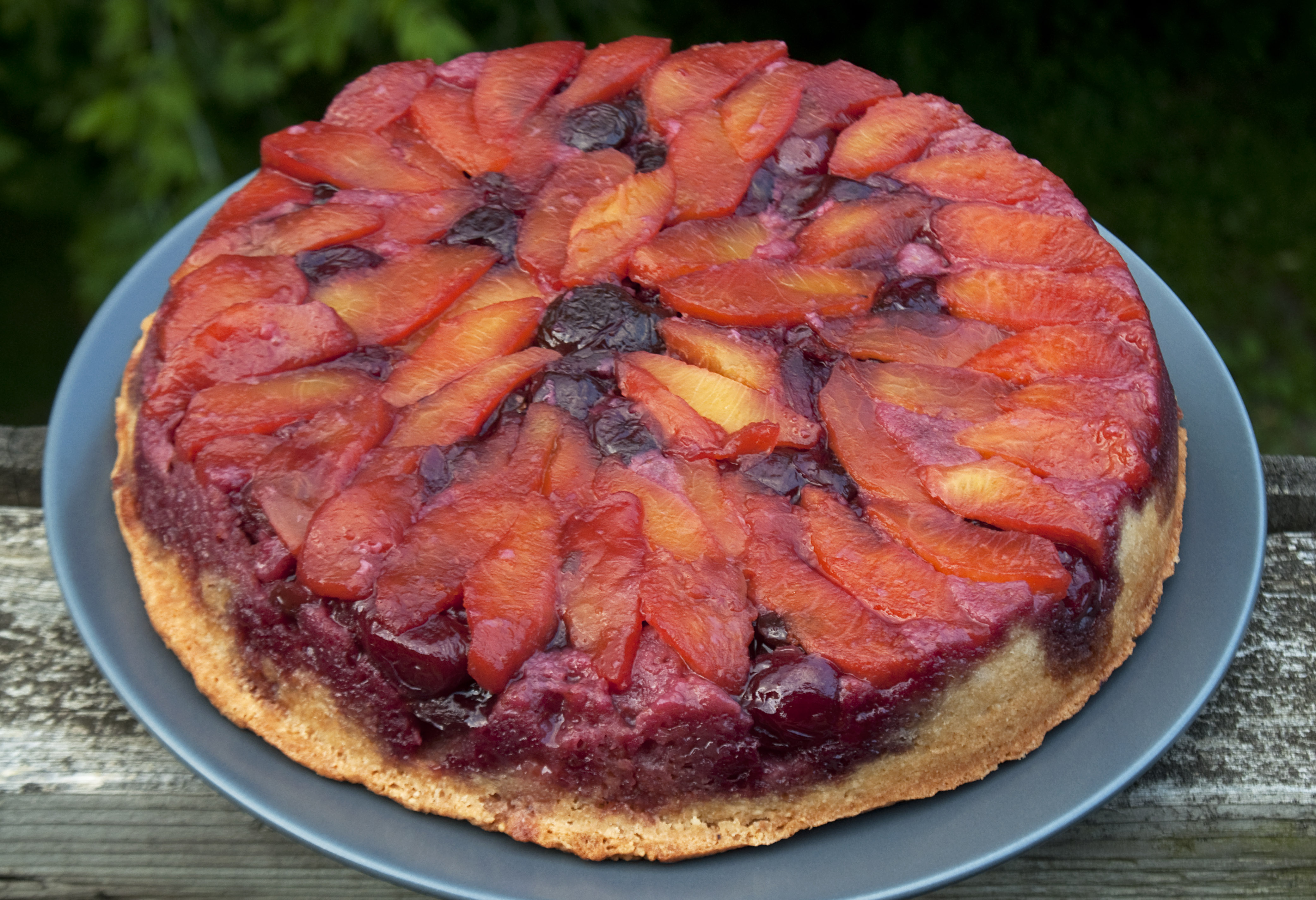 Peach-Cherry Almond Torte