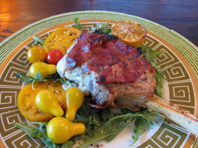 Veal Chops with Mozzerella, Sage &amp; Proscuitto