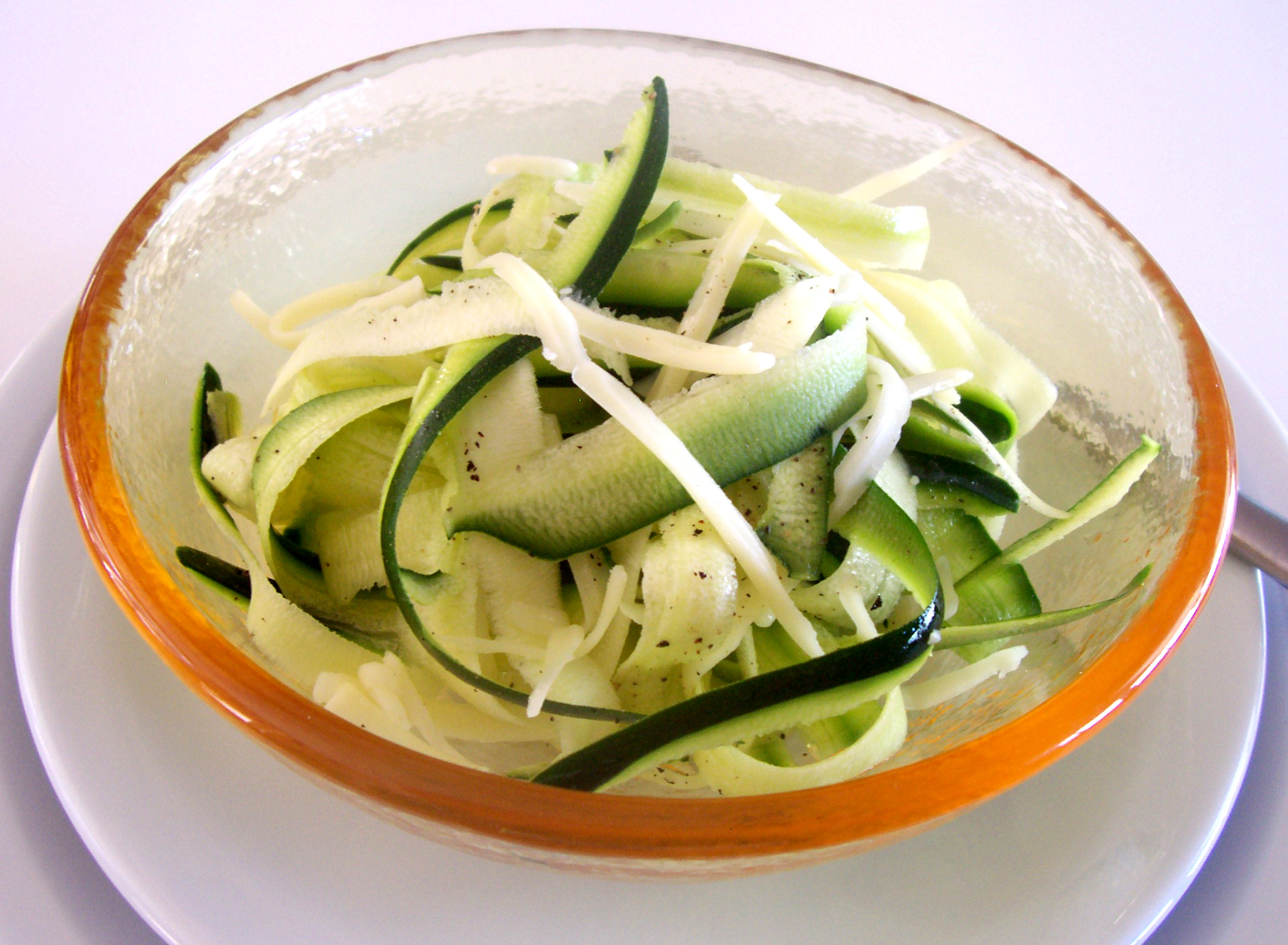 Zucchini and Pecorino Salad with Truffle Oil