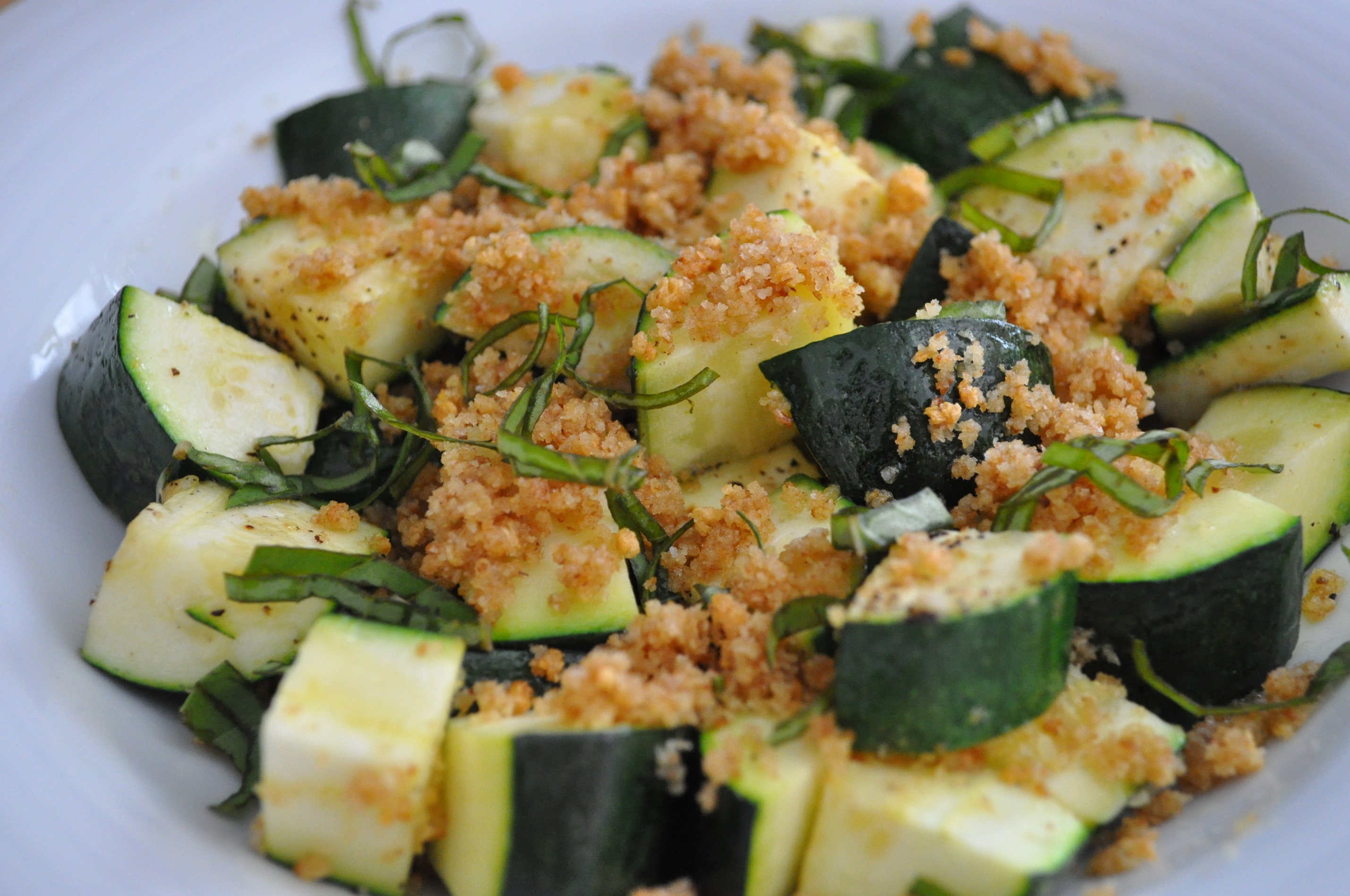 Lemon Basil Roasted Summer Squash with Garlic Crisp Recipe on Food52