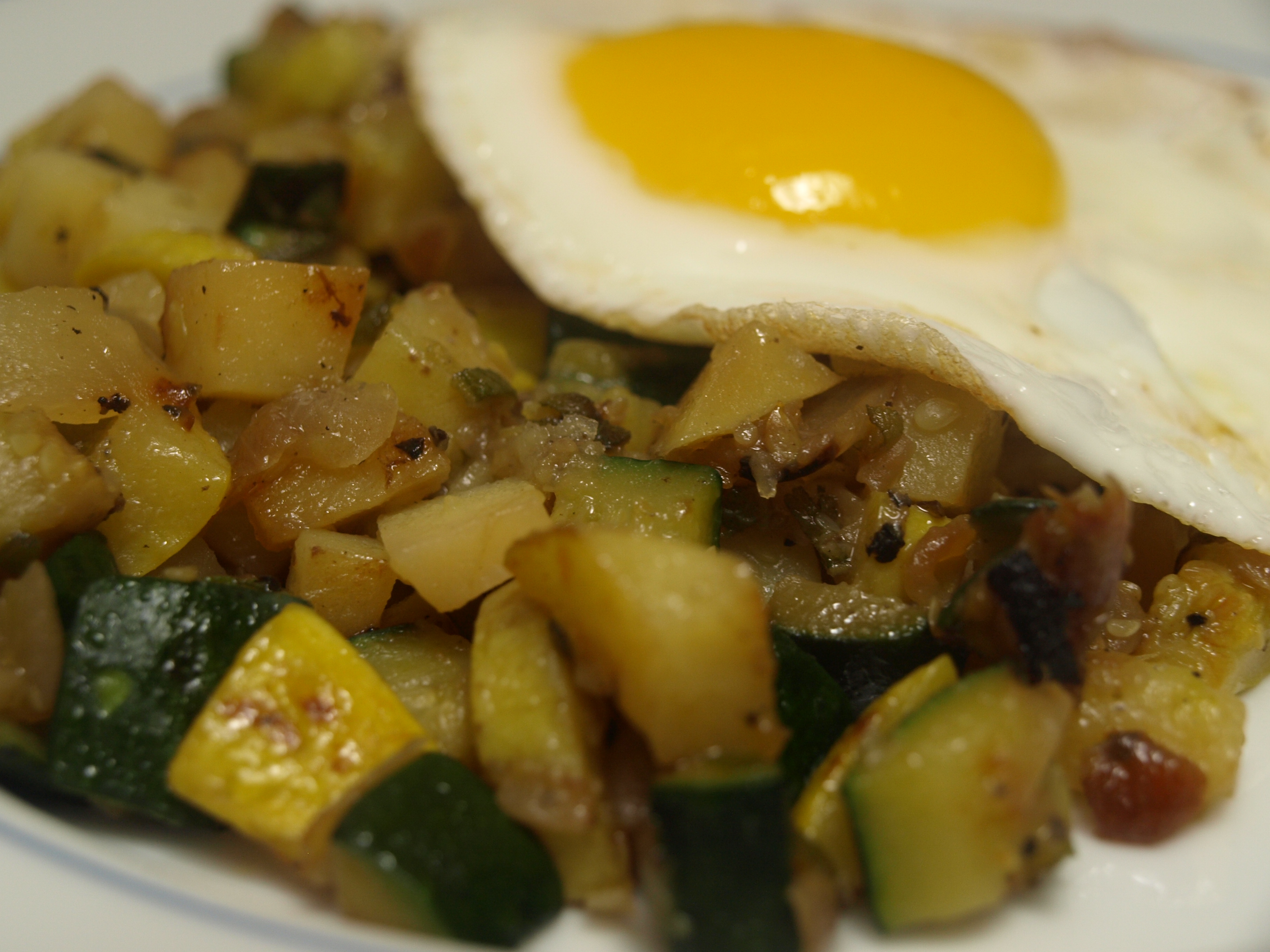 Summer Hash – Zucchini, Summer Squash, Sage, and Yukon Gold Potatoes