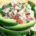 Basil Chicken Salad with Bacon and Tomatoes