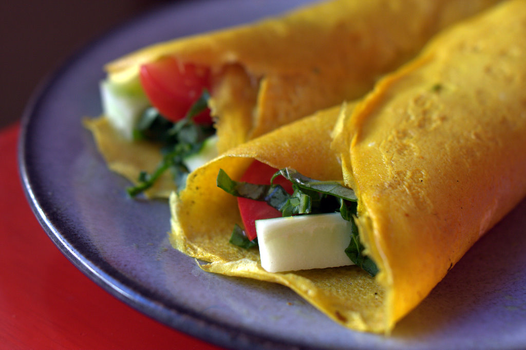 Crispy Vietnamese Veggie Crepes with Fresh Herbs
