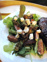 Fig &amp; Squash Blossom Salad