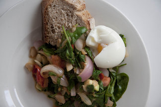 Soft Boiled Eggs with Sautéed Spinach and Goodness