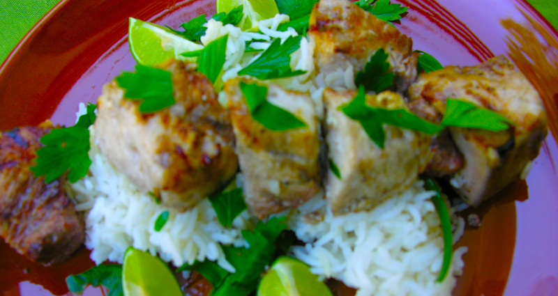 Succulent Grilled Swordfish Kebabs with Tequila and Key Lime