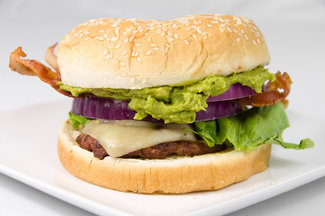 Guacamole-bacon-cheeseburger