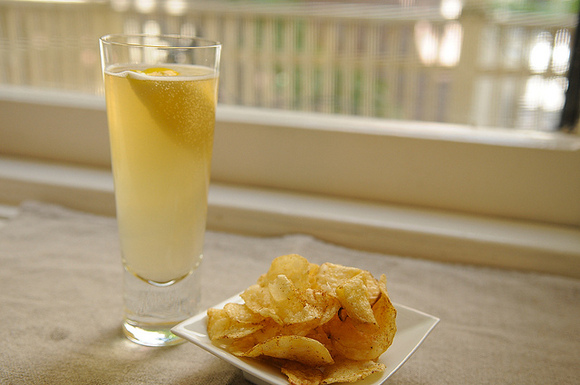 Summer Radler and Spicy Chips