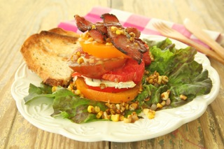"""BLT"" Farmer's Salad with Toasted Corn Vinaigrette"