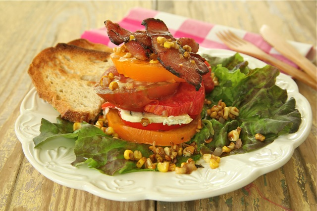&quot;BLT&quot; Farmer&#x27;s Salad with Toasted Corn Vinaigrette