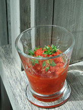 Heirloom Tomato Gazpacho Granita
