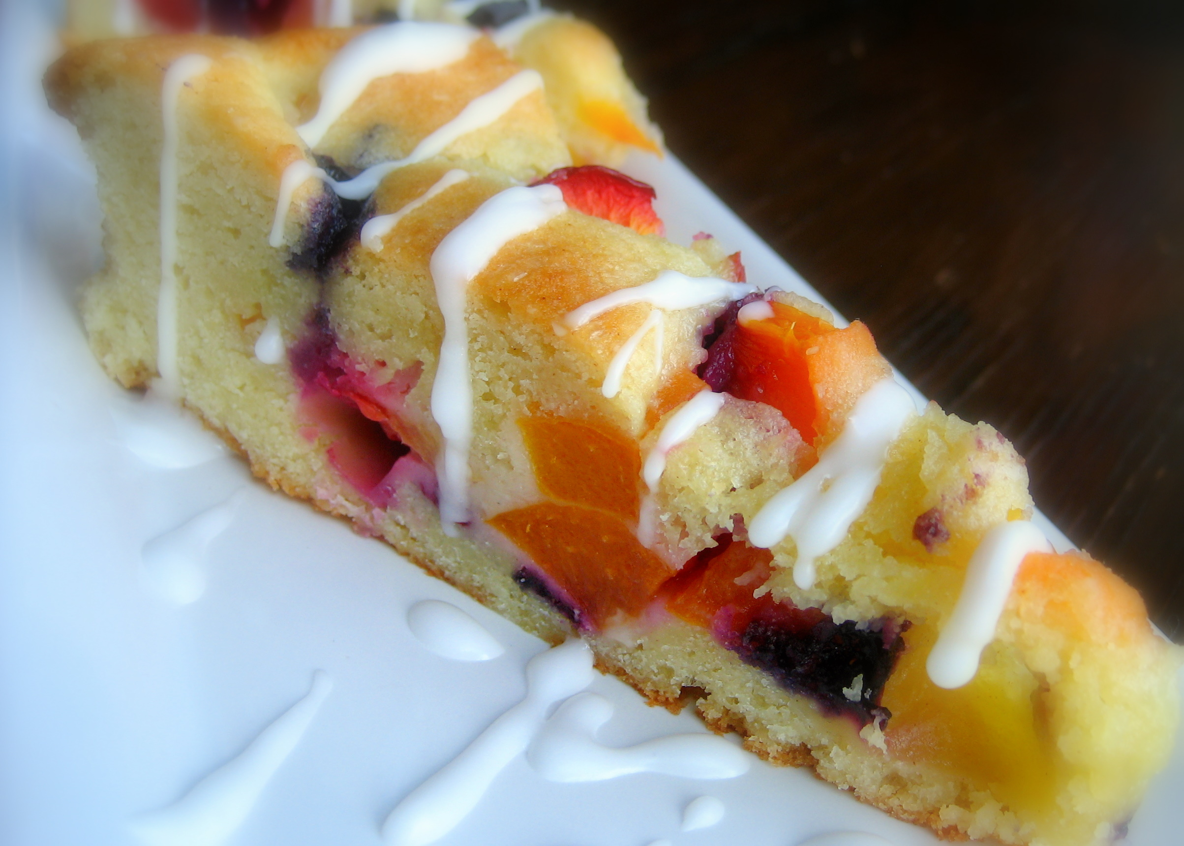 Summer Fruit Tea Cake with Almond Flavoring