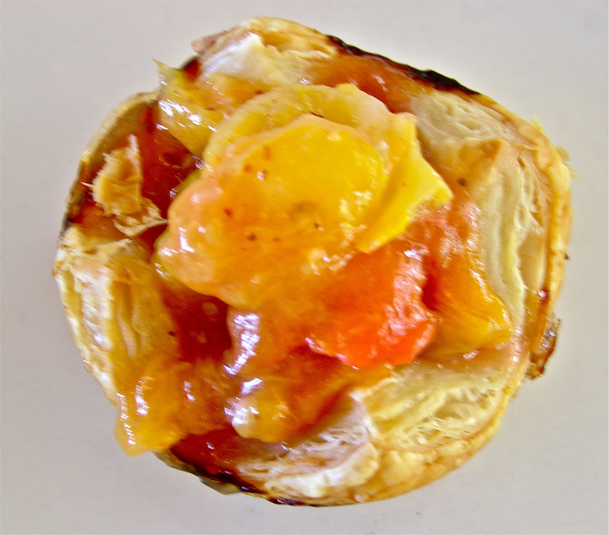 ANCIENT HEIRLOOM PLUM AND TOMATO TARTLETTS