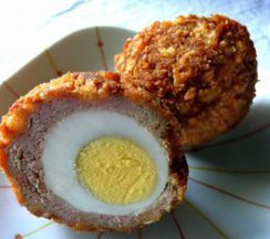 Scotch Egged Turkey Meat Balls