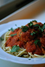 Fish &quot;Meatballs&quot; in Spicy Red Pepper Sauce