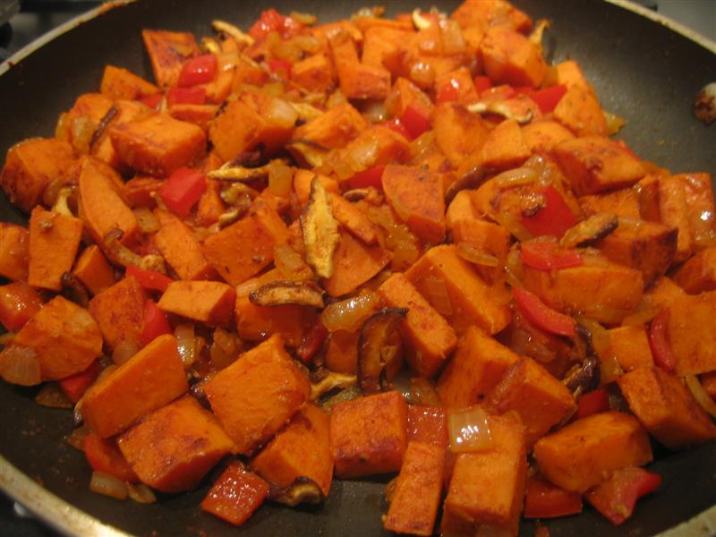 Sweet Potato Hash Over Easy