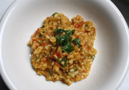 Smokey Red Pepper Risotto with Pimentn