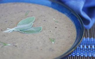 Creamy Mushroom Chestnut Soup 