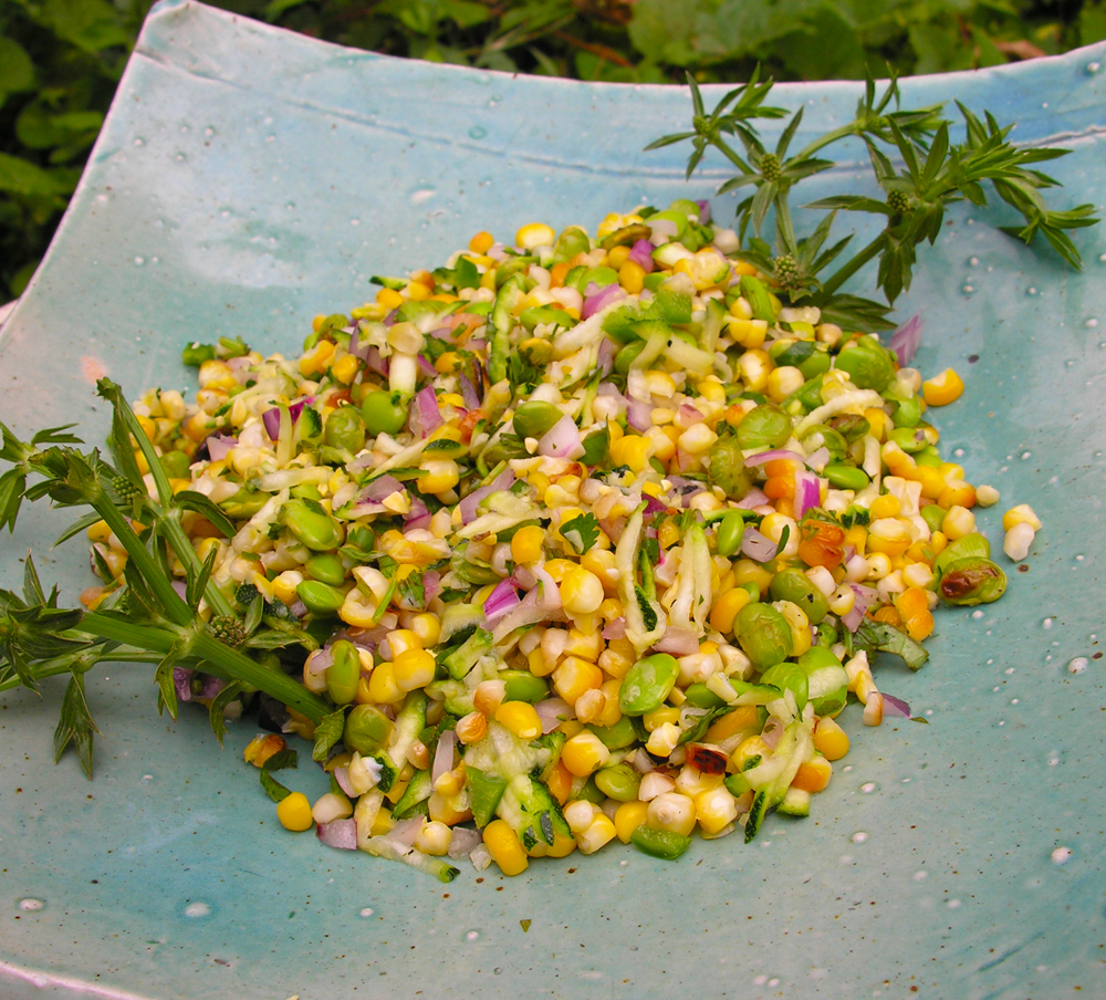 anatomy of a grilled corn salad