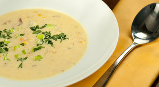 spicy summer corn chowder