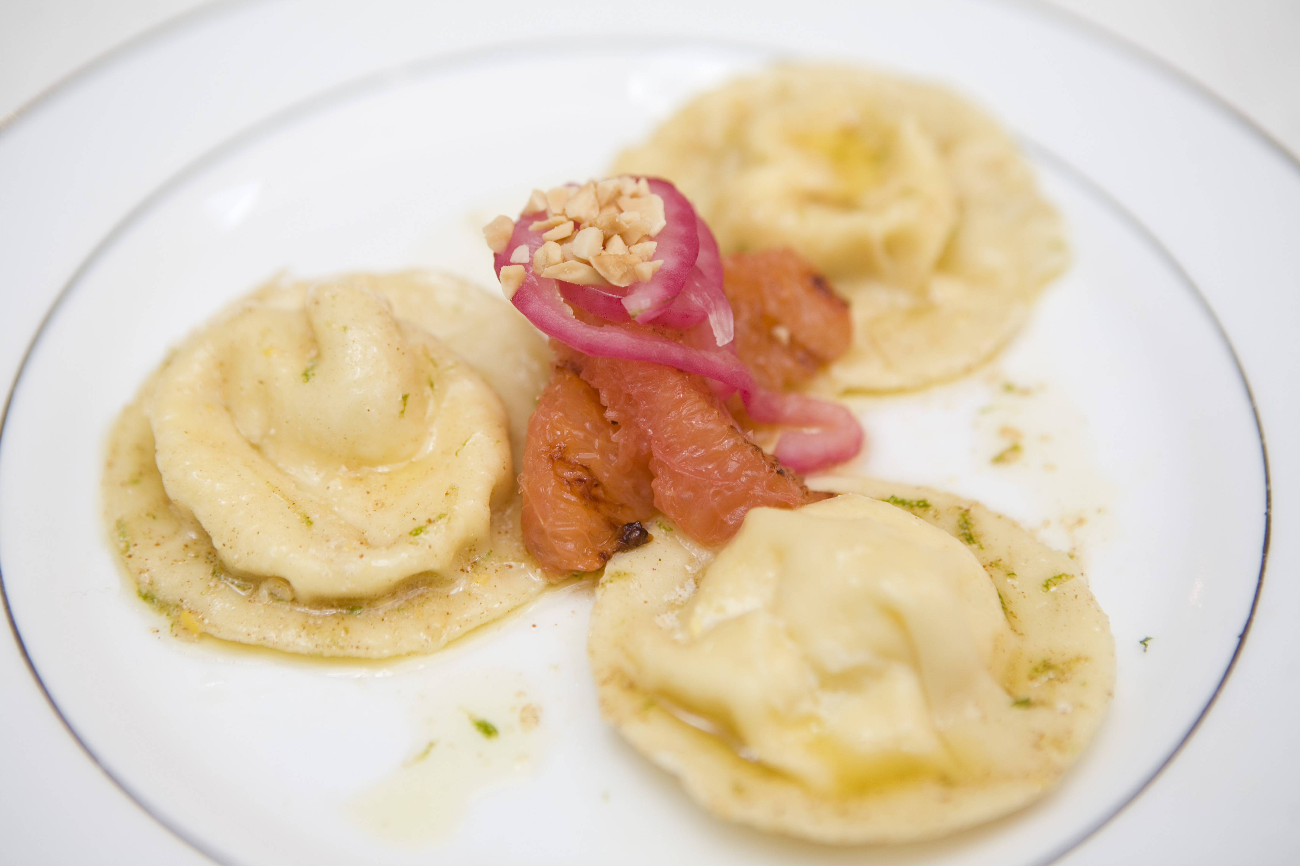 Summer Corn Ravioli with Lime Brown Butter