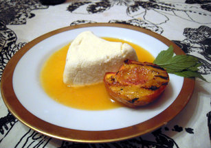 Limoncello Coeur  la Crme with Peach Ros Sauce (inspired by Sunchowder)