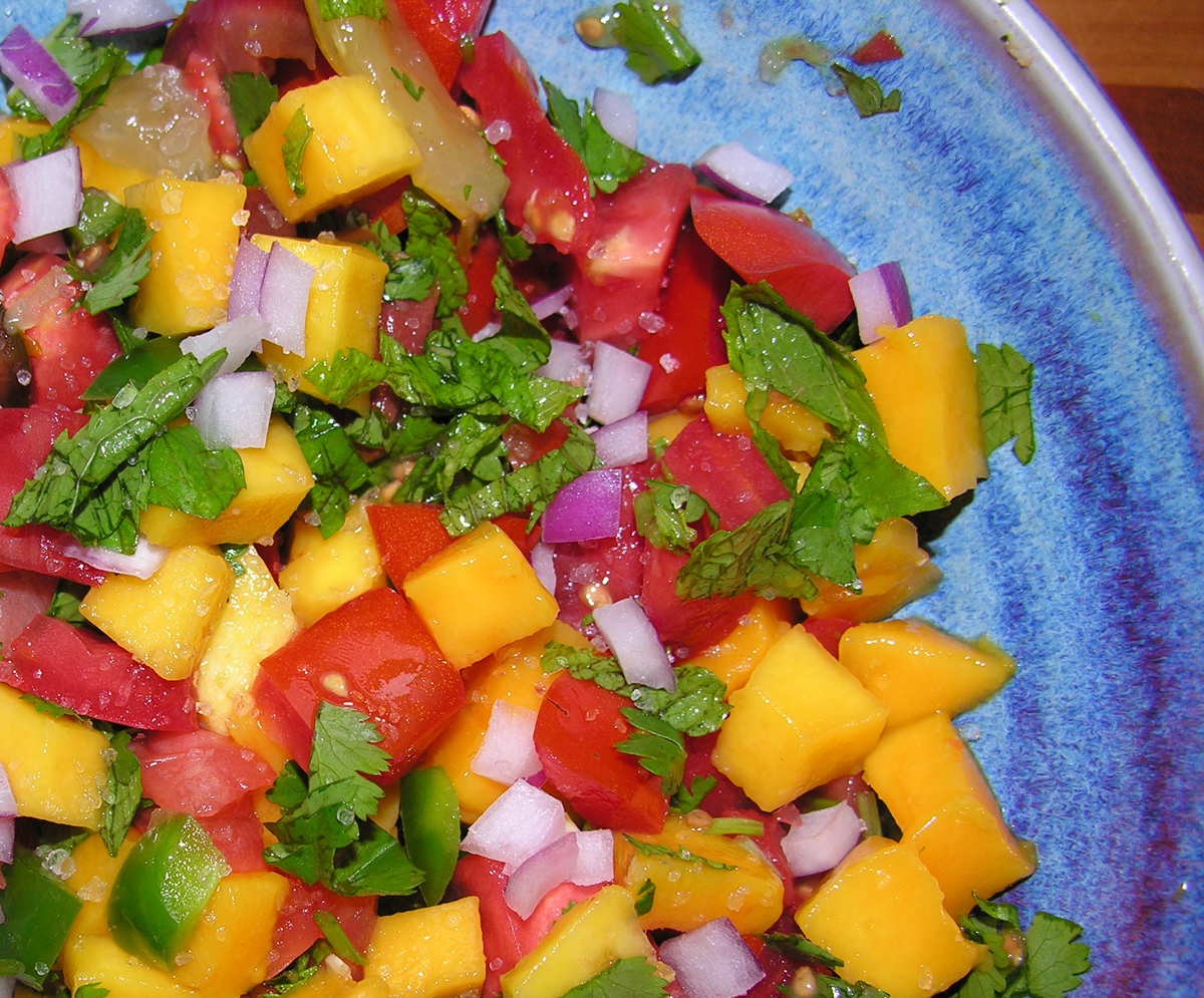 A luscious fruity sunset salsa
