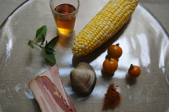 Corn, Bacon, and Clam Stew Recipe on Food52